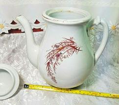 ANTIQUE IRON STONE CHINA WARRANTED COFFEE POT image 5