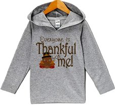 Custom Party Shop Thankful For Me Thanksgiving Hoodie 2T Grey - $22.05