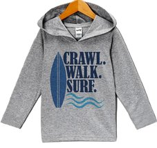 Custom Party Shop Baby Boy's Crawl Walk Surf Summer Hoodie Pullover 6 Months ... - $22.05
