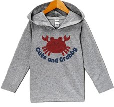 Custom Party Shop Baby Boy's Cute and Crabby Summer Hoodie Pullover 12 Months... - $22.05