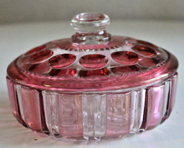Vintage Pink Depression Glass Candy Dish with L... - $30.68
