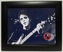Lou Reed custom framed guitar pick display J1 - $75.95