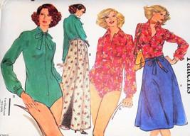 Vintage 70s Vogue Easy Bodysuit Wrap Reversible Skirt Maxi 10 Uncut Patt... - $17.99
