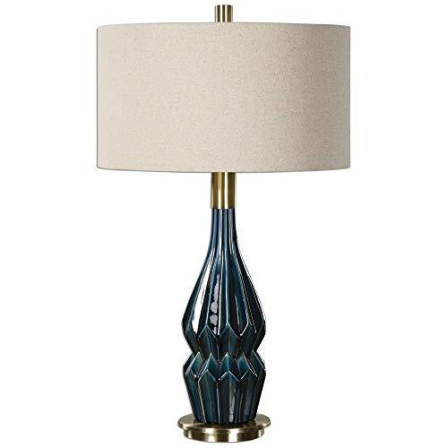 Uttermost 27081-1 Prussian Table Lamp, Blue Ceramic