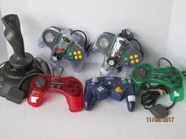 Lot 6 Video Game Controllers Microsoft Joystick Nintendo Yobo Sharkpad C... - $19.62