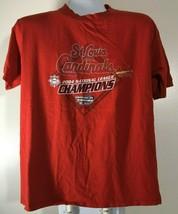 Men's Tee Size XL St. Louis Cardinals Baseball MLB 2004 Champions T Shirt Red - $9.78