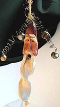 Mod Folk Art Santa Long Twisted Beard By Artian Robyn Jones Bells Poseable Wires - $16.90