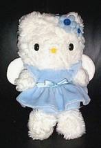 "Hello Kitty Sanrio Plush 10"" Soft Blue Dressed Angel with Wings - $6.29"