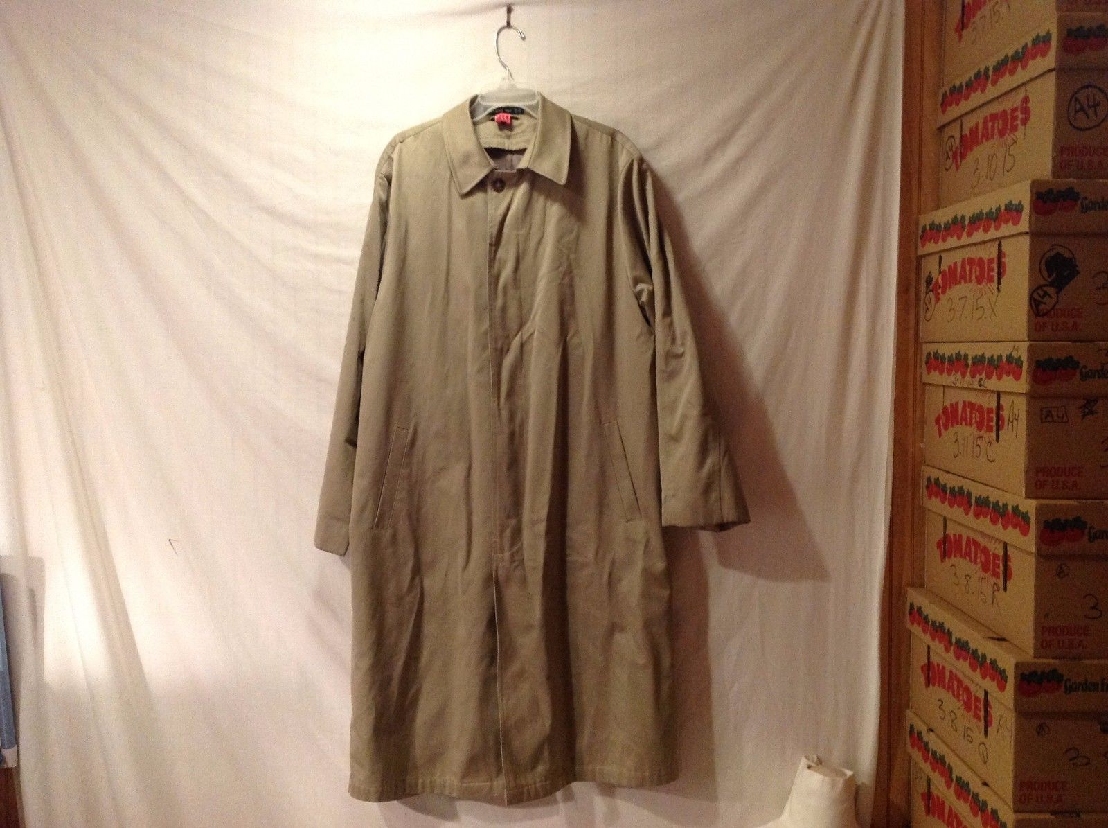 Excellent Condition Mens Ralph Lauren Tan Trench coat raincoat dress coat