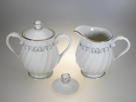 Syracuse China Westminster Creamer & Sugar Set With Extra Sugar Lid - $16.79