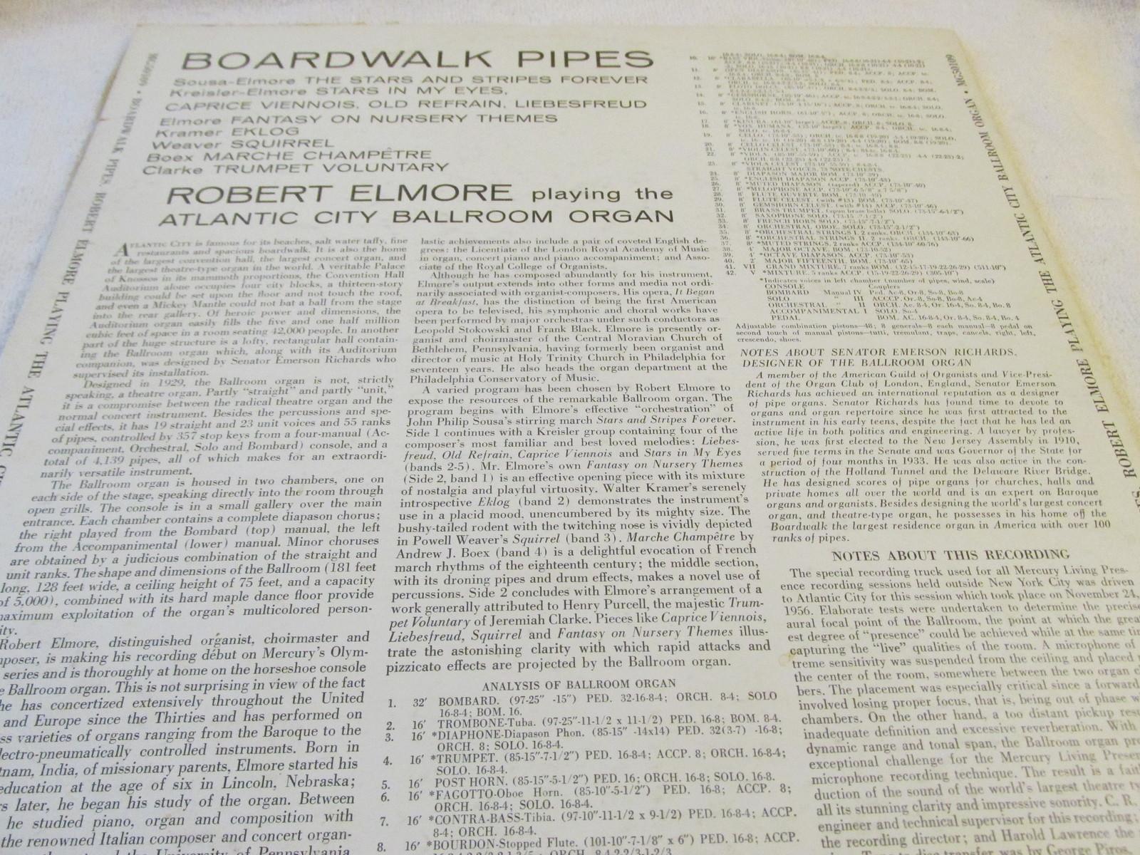 Boardwalk Pipes Record Album