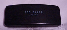 TED BAKER LONDON Classic Eyeglass Case Hard Shell Black Semi-Gloss - $16.95