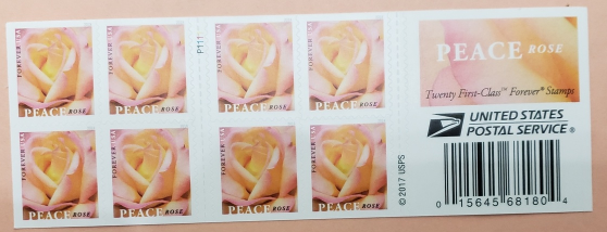 Peace Rose - (USPS)  FOREVER STAMPS 20 stamps