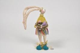 Rabbit Cartoon Dress Basket Standing 11'' - $23.99
