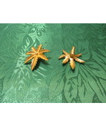 Sarah Coventry Palm Leaf Earrings – Clip On  - $5.50