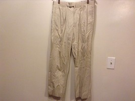 Good Condition 100% Egyptian Cotton Beige Paul Stuart Zipper Cuffed Combed - $98.99