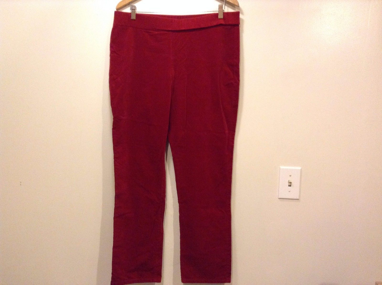 Great Condition Rafaella Size 16 Cotton Blend Elastic Waist Red