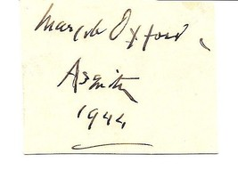 Margot Oxford, wife of UK Prime Minister Herbert Asquith. Clipped signature - $20.00