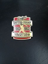 Pin for Los Angeles Dodgers Tommy Davis Batting Champ 1962 - 1963 - €5,13 EUR