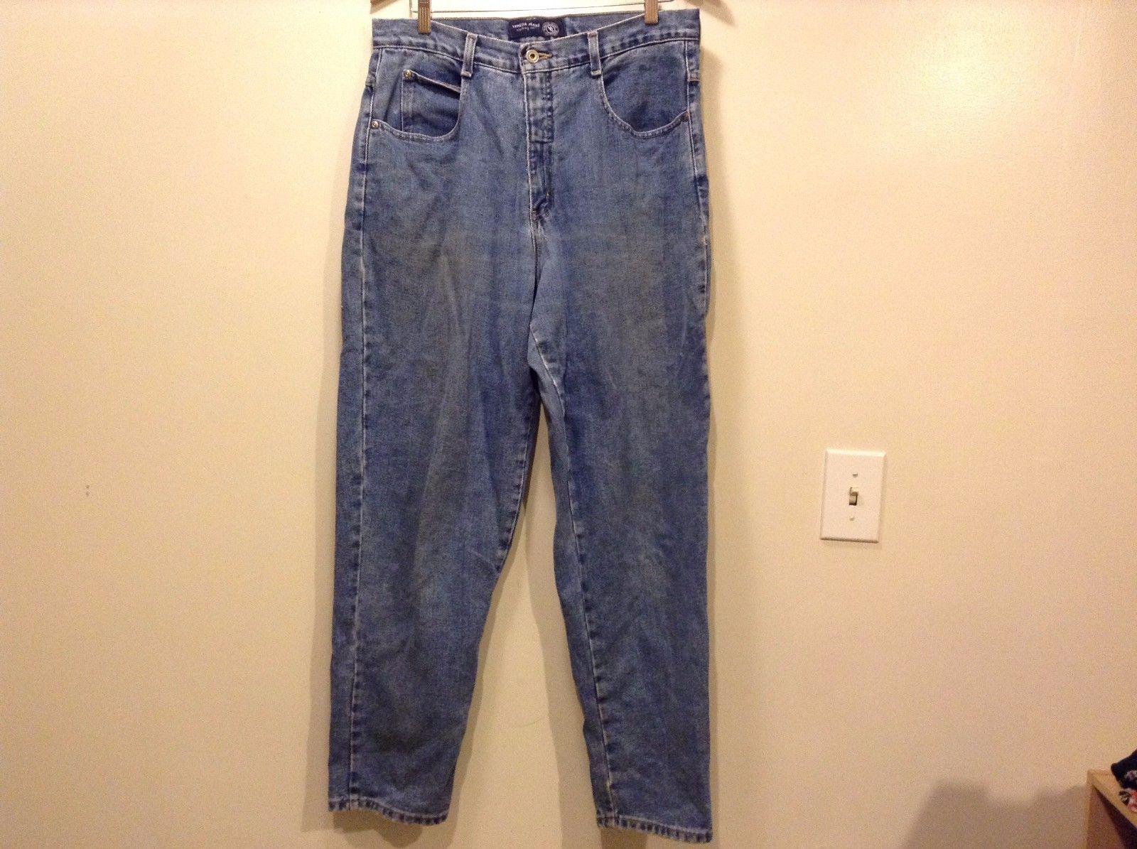 Great Condition Venezia Jeans Size 16 Blue Denim Pants Zipper Button 4 Pockets