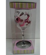 SINGLE & SEXY Hand Painted Novelty Wine Glass Lot of 4 NIB Formation Brands - $55.99