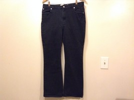 Great Condition Gap Stretch Boot Cut Size 14 Cotton Blend Black Pants Button