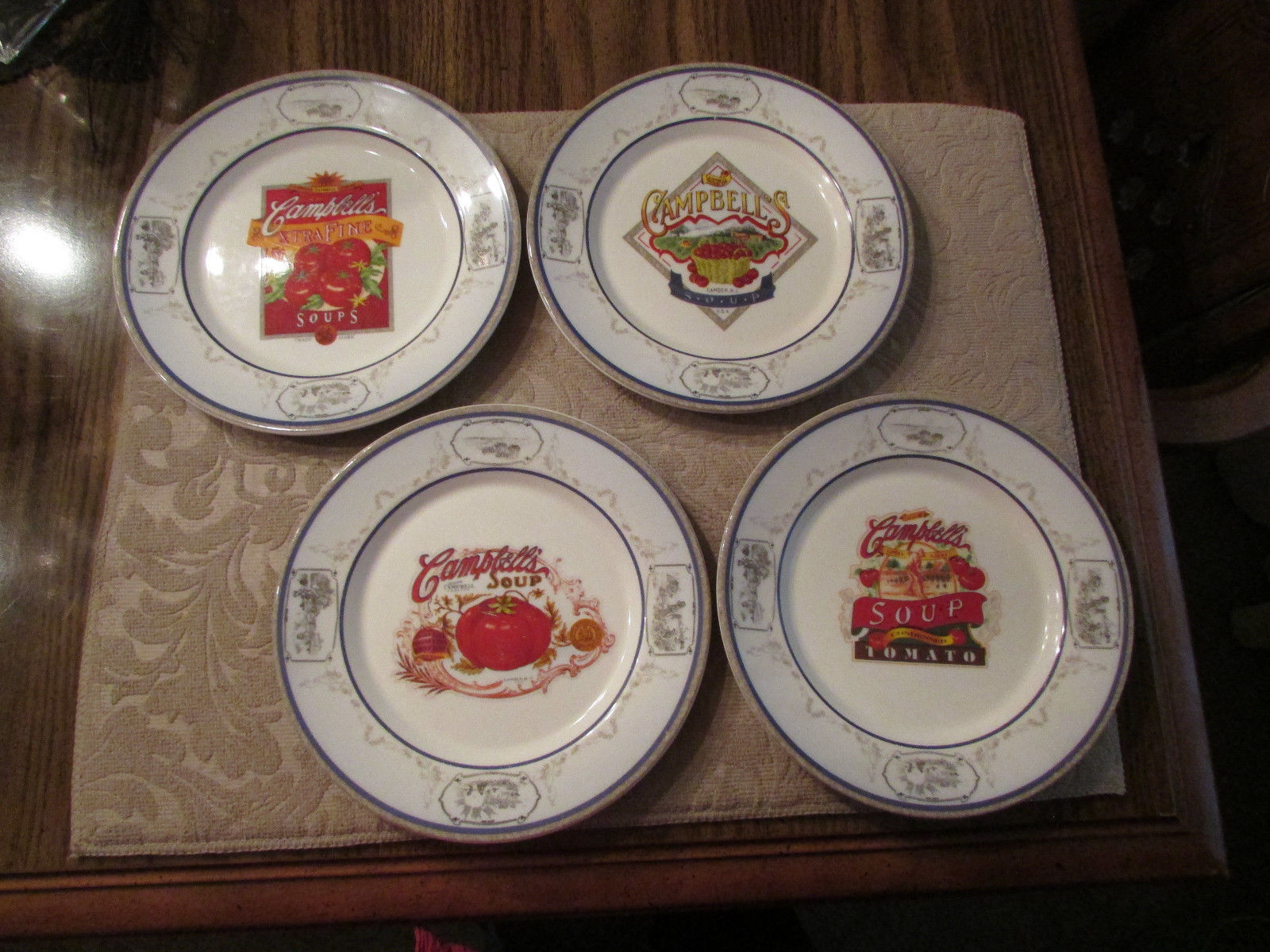 "Primary image for Campbells 2008 8"" plates, set of 4 - colorful, each different"