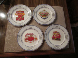 "Campbells 2008 8"" plates, set of 4 - colorful, each different  - $16.83"