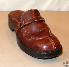 Born Brown Leather Split Toe/Strap Clogs - Women's Slip-On Mules - Size 7 M - $25.17 CAD