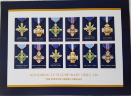 The Service Cross Medals First Class (Usps) Mint Forever Stamps 12 - $8.95