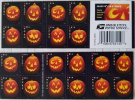 4 Delightful Jack'o Lanterns 1st Class (USPS)  FOREVER Stamps 20 - $12.95