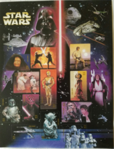 STAR WARS 2007 1st Class (USPS) Stamps 15 x .41 cents, Mint - $11.95