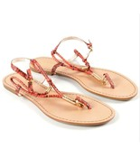 Coach Opal Snakeskin Thong Sandals US 7.5 Salmon w/ Box (Floor Show Sample) - $75.00