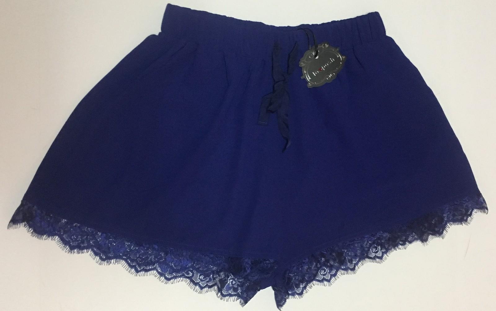 Lovposh Loungewear Casual Shorts Lace Royal Blue NWT Multiple Sizes