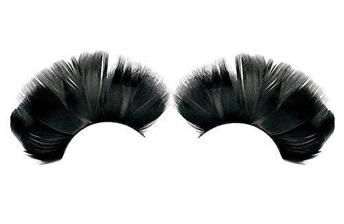 3 Pairs Feather False Eyelashes Party False Eyelashes Art Eyelashes,Black