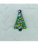 Green Metal Christmas Tree  Pin Brooch Signed T... - $6.00