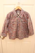 Christopher & Banks Petite Multicolor Mosaic Button Scalloped Jacket Siz... - $17.79