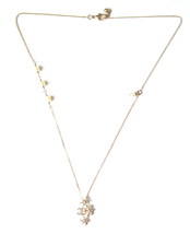 CHANEL 2015 CC Logo Crystals Pearls Stars Pendant Necklace Authentic New image 4