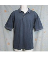 New Sz L Sope Creek Mens Blue Mix Textured Mercerized Cotton Polo Rugby ... - $8.99