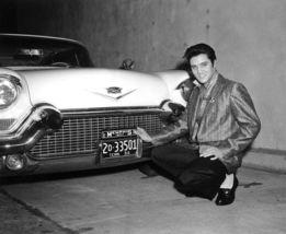 Elvis Presley Cadillac TKK Vintage 8X10 BW Music Memorabilia Photo - $6.99