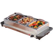 Brentwood Triple Buffet Server w/ Warming Tray - $186.37
