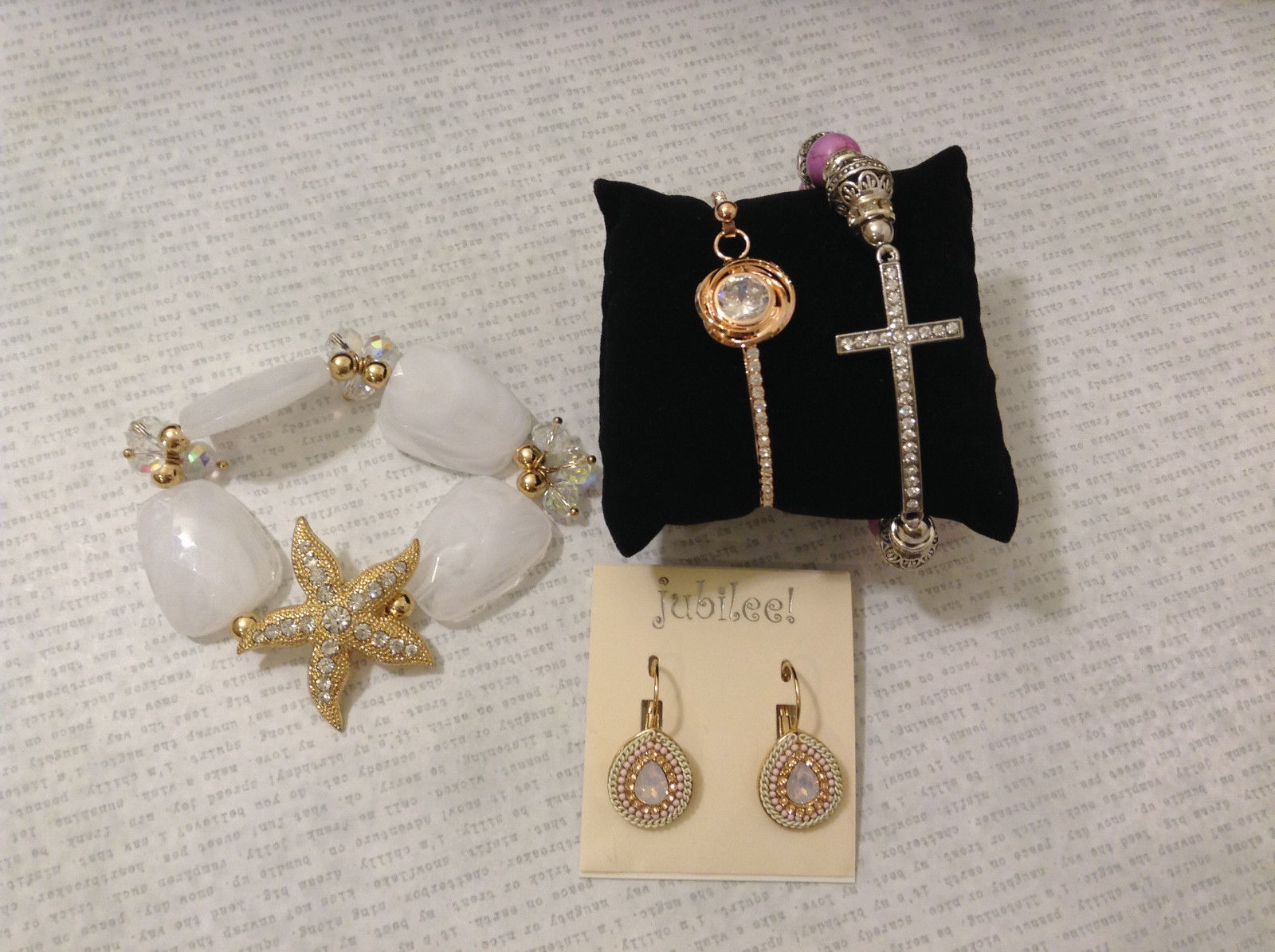 Lot of 4 pcs New Jewelry Collection Jubilee! Mix and Match Earrings Bracelets