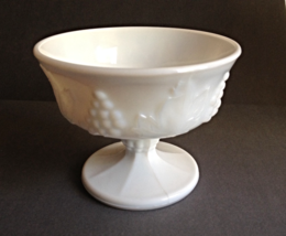 Vintage Small White Milkglass Footed Compote Ca... - $5.00