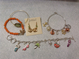 Lot of 5 pcs Beach Vacation Jewelry Collection Mix and Match Earrings Bracelets