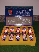 Set Of Ten Mickey Unlimited Mickey & Minnie Christmas Tree Lights - $22.76