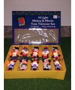 Set Of Ten Mickey Unlimited Mickey & Minnie Christmas Tree Lights - $22.76
