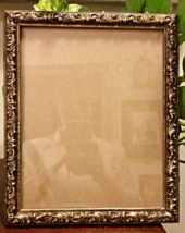 8x10 Gold Frame Glass Wall Hanging Fancy Scroll... - $50.00