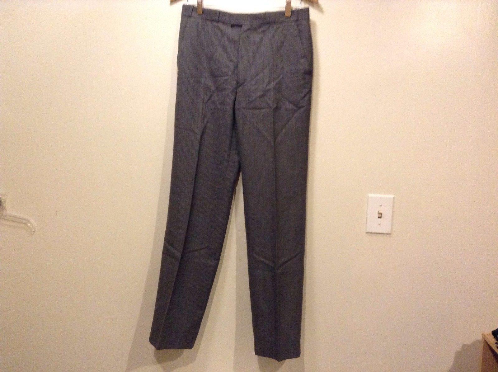 Great Condition John Lewis Partnership Eural Tergal Gray Blue Strip Pants