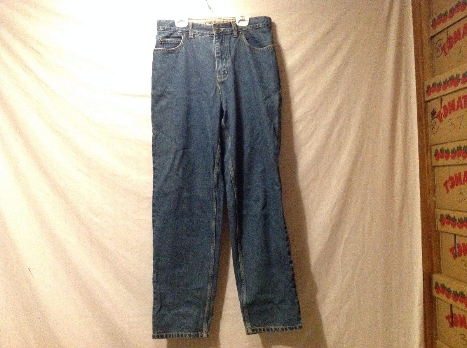 Great Condition Land's End Size 6 100% Cotton Blue Denim Jeans Fit 3 Zipper