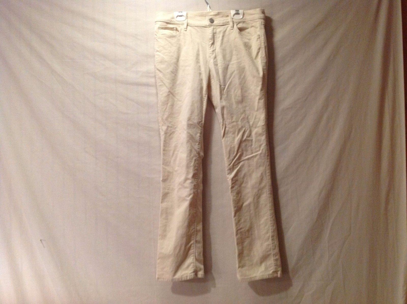 Great Condition Ann Taylor Loft Straight Cotton Blend Cream Corduroy Pants